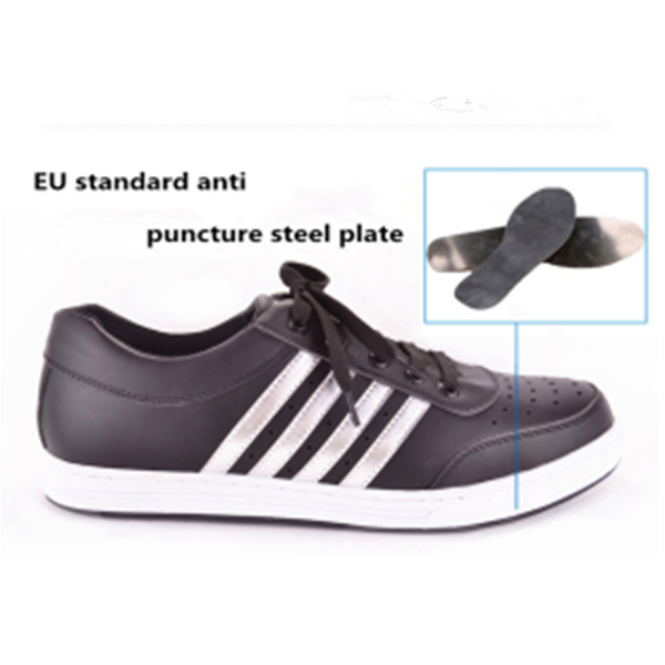 Quality Blue Microfiber with PU sole safety shoe