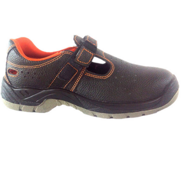 Imported buffalo hide comfortable leather safety shoe with good breathability