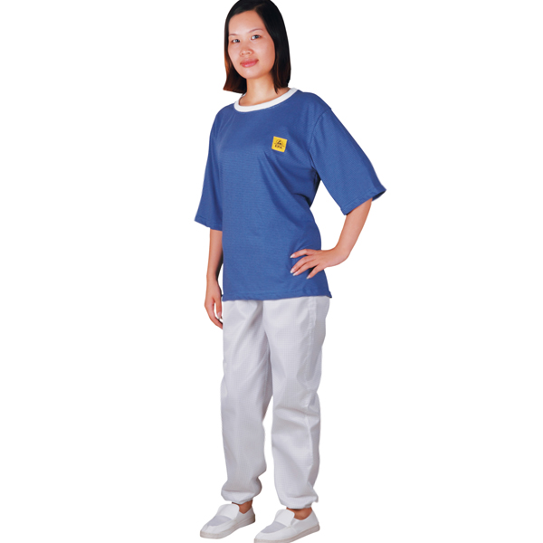 antistatic t shirt round collar C0106