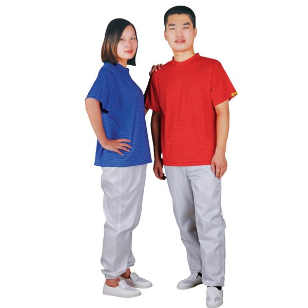 Antistatic t shirt round collar C0108