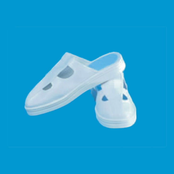 cleanroom white esd slipper with hole