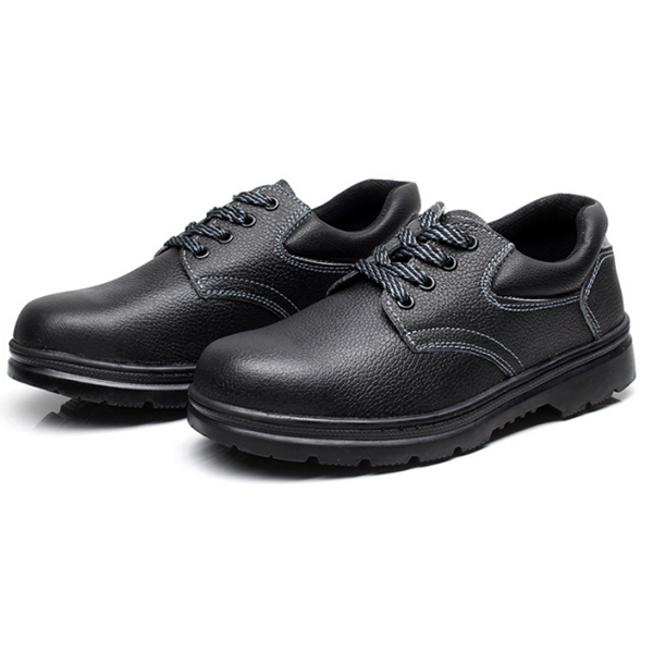 Practical microfiber upper rubber sole shoe for protecting worker's foot safe