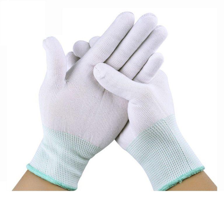 White nylon gloves C0500