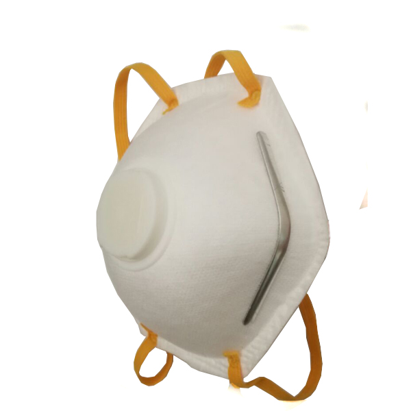 Dust proof respirator, cup shape with valve C0814