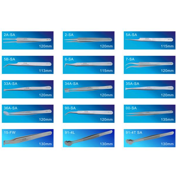 D08-S Antistatic Cleanroom tweezers ESD stainless steel tweezers