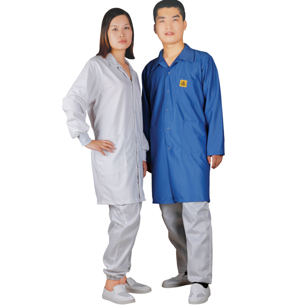 cleanroom antistatic diamond knitted smock C0111 C0112