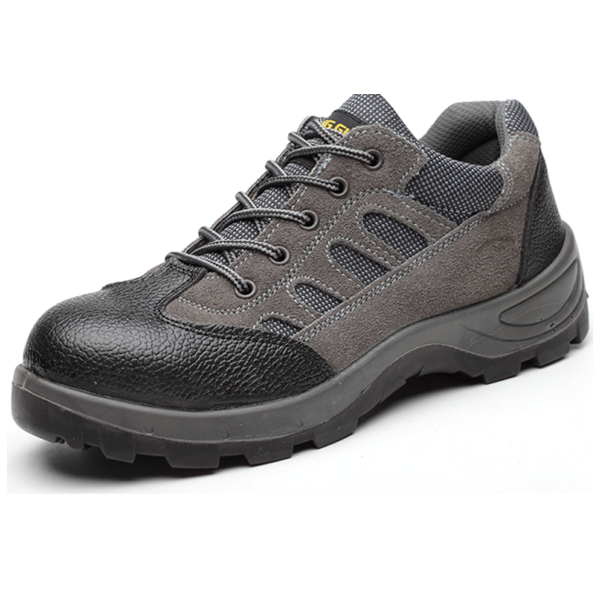 Grey velvet good breathability wear-resistance safety shoe for Automobile industry workers