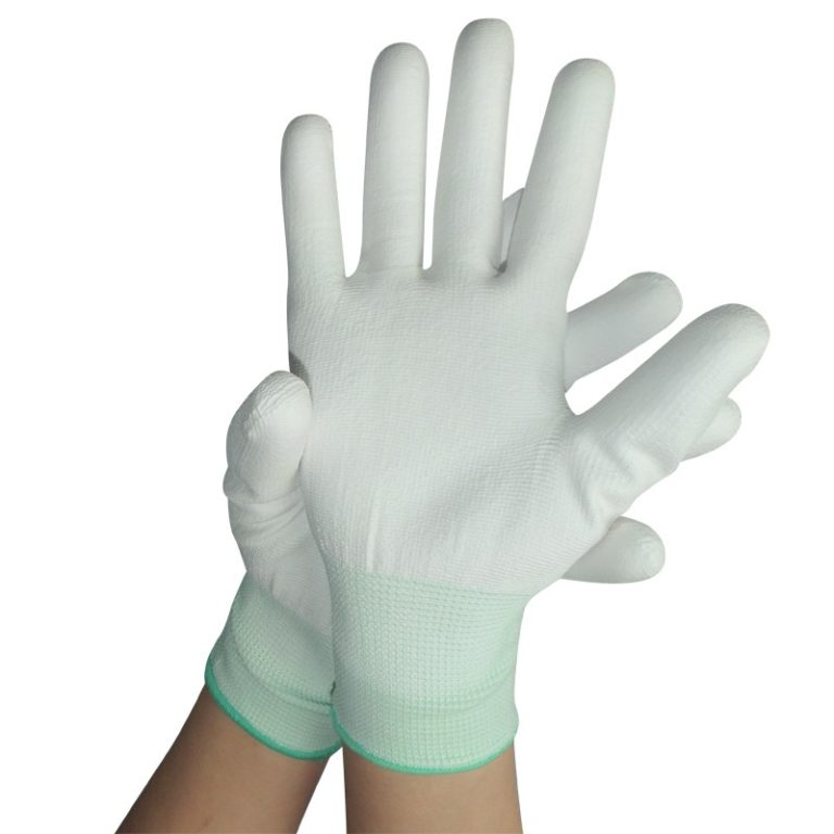 Nylon PU coated palm gloves C0500-1