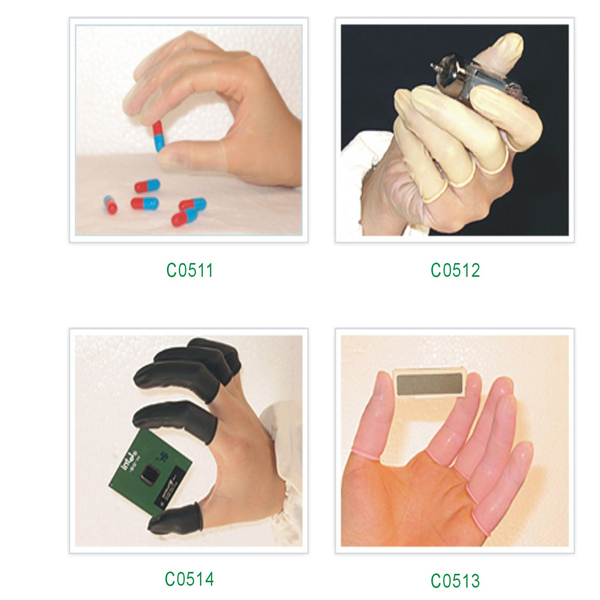 Cleanroom antistatic finger cots C0511-C0514