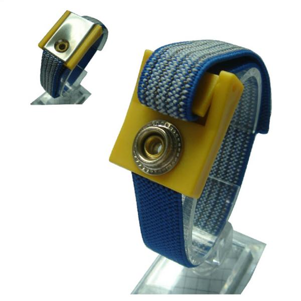 WS01-HQ Correa antiestática de alta calidad ESD strap Correas de muñeca de tela (Plata)
