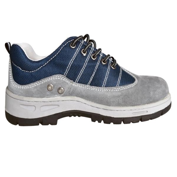 C04701 Zapato de trabajo en piel de vaca azul
