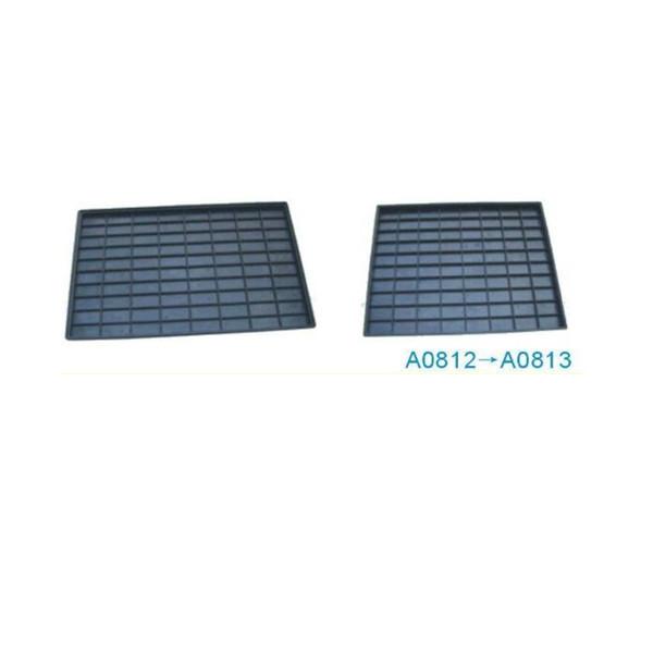 A0812 80 rejillas ESD conductivos bandeja de plástico