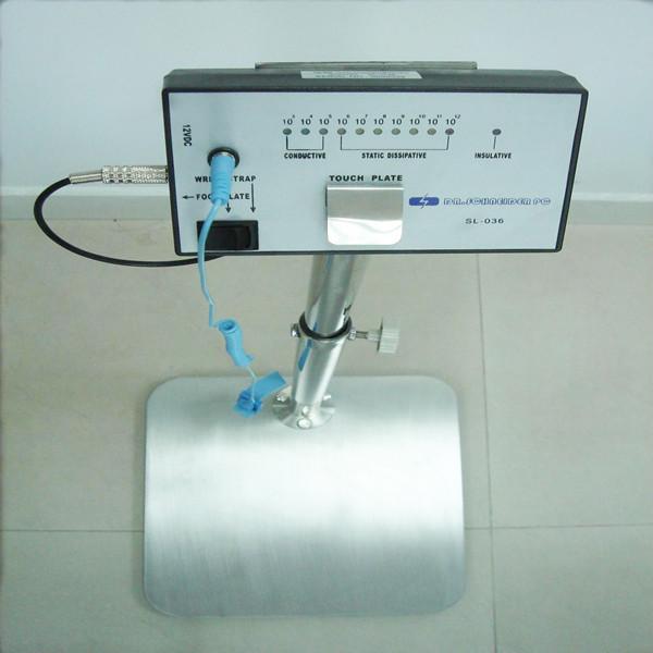 E09 Probador antiestático de alta tecnología de la correa de la muñeca / del pie de ESD