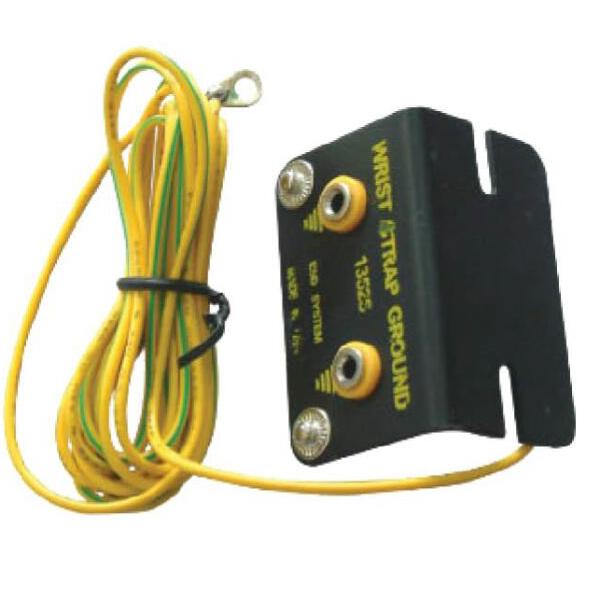 GC03 Cable de conexión a tierra para montaje en banco con dos conectores tipo banana