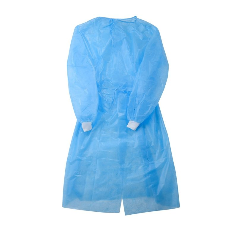 Disposable Non Woven Blue Yellow Isolution Gown