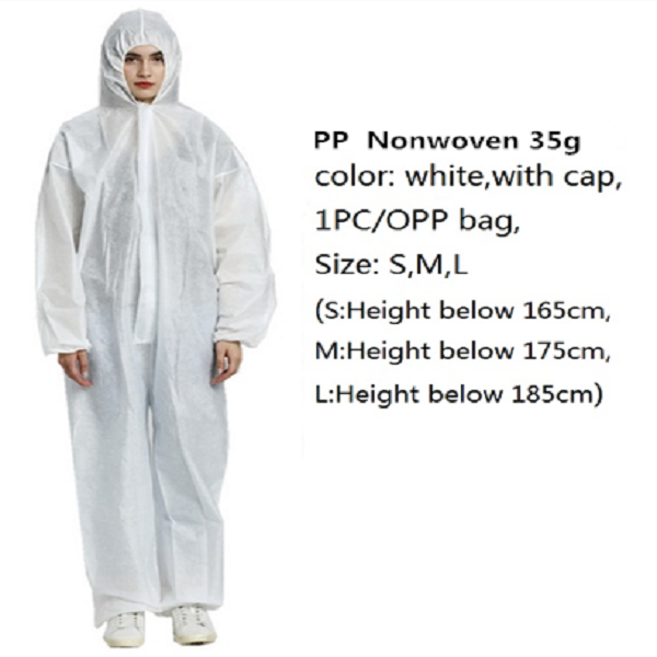 Wholesale non woven Safety isolation gown Cleanroom Uniform,white Coveralls Women/men