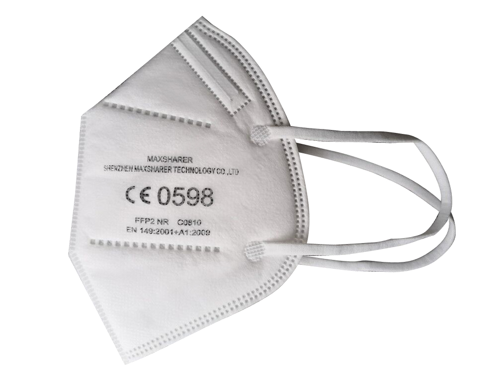 KN95/FFP2 5PLY PROTECTIVE FACE MASK WITH CE NB 0598, WHITE LIST.